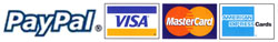 We accept credit card payments through Paypal