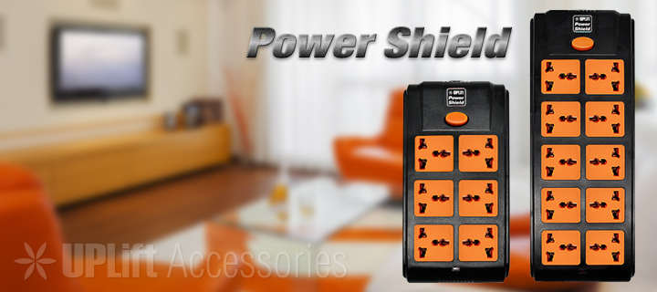 Power Shield 2-Lane Black (10-Socket)