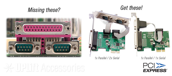 1-Serial / 1-Parallel Port Expansion Card (PCI-E)