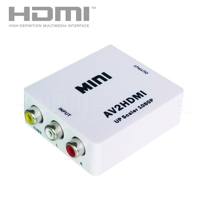 3-RCA to HDMI Audio-Video Converter