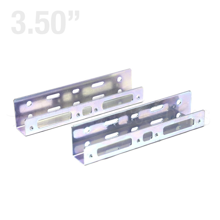 "Metal Side Bracket Dual 2.5"" HDD to 3.5"" Bay (Silver)"