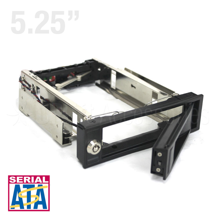 "Mobile Rack Trayless 3.5"" SATA 3 HDD Metal Type for 5.25"" Bay (Black)"