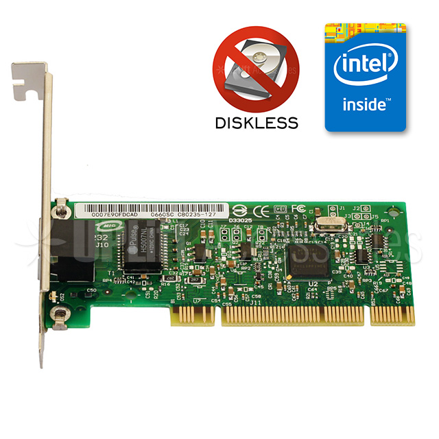 Intel PRO/1000GT Gigabit Diskless Ethernet Adapter with Bootrom (PCI)