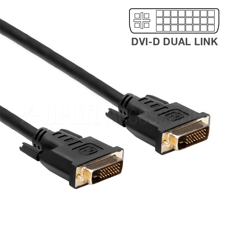 DVI-D to DVI-D Dual Link Video Cable (1.8m)