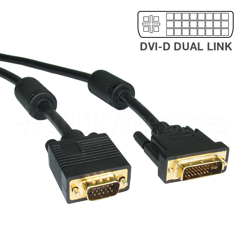 DVI-D Dual Link to VGA Cable (1.5m)