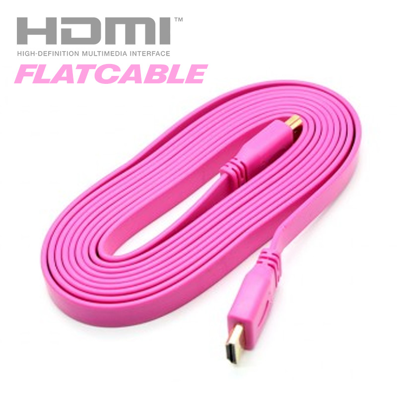 HDMI Flat Cable (Pink)