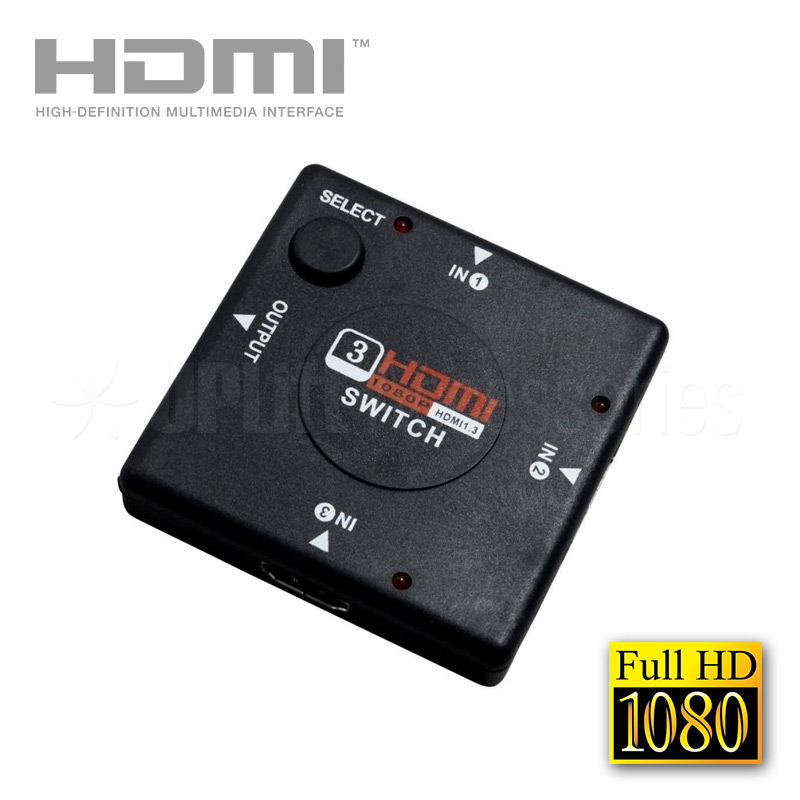 HDMI 1x3 3-Way 1080p Switch
