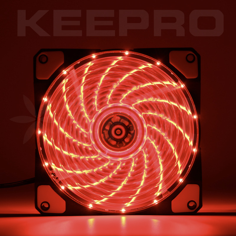 KEEPRO CPU Case Silent Fan 15LED Red 12V (120mm)
