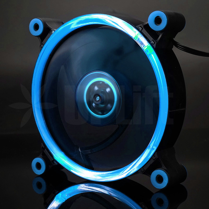 KEEPRO CPU Case Silent Fan Ring LED Cyan Blue 12V (120mm)