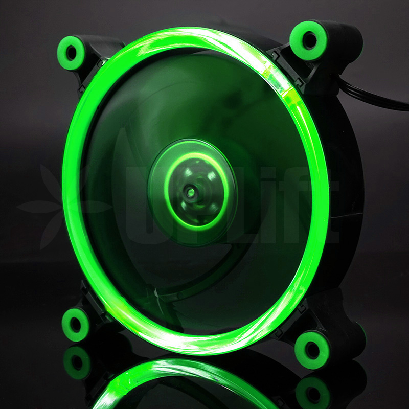 KEEPRO CPU Case Silent Fan Ring LED Green 12V (120mm)