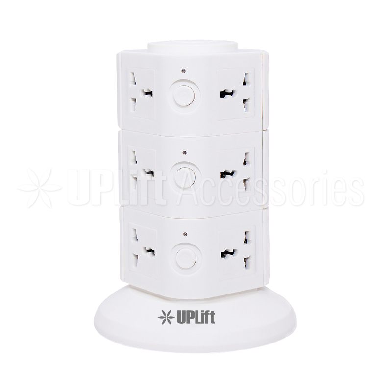 Power Shield Vertical Socket White (12-Socket)