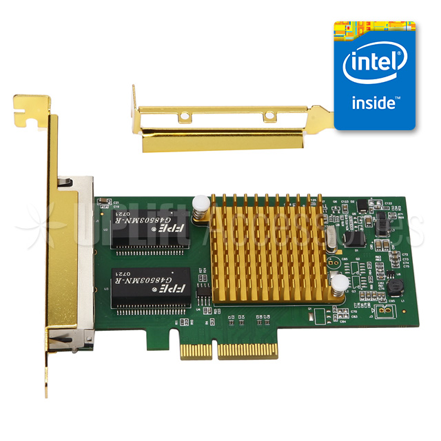 Intel I350 Gigabit Server Ethernet Adapter 4-Port (PCI-E)