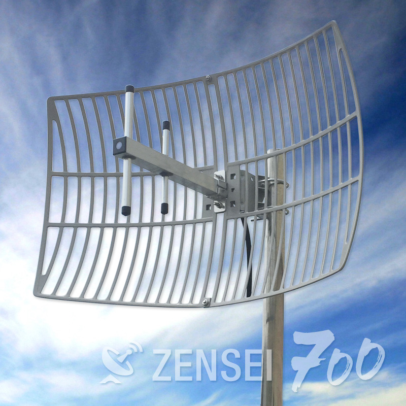 Zensei Parabolic Grid Antenna for 700Mhz 4G LTE