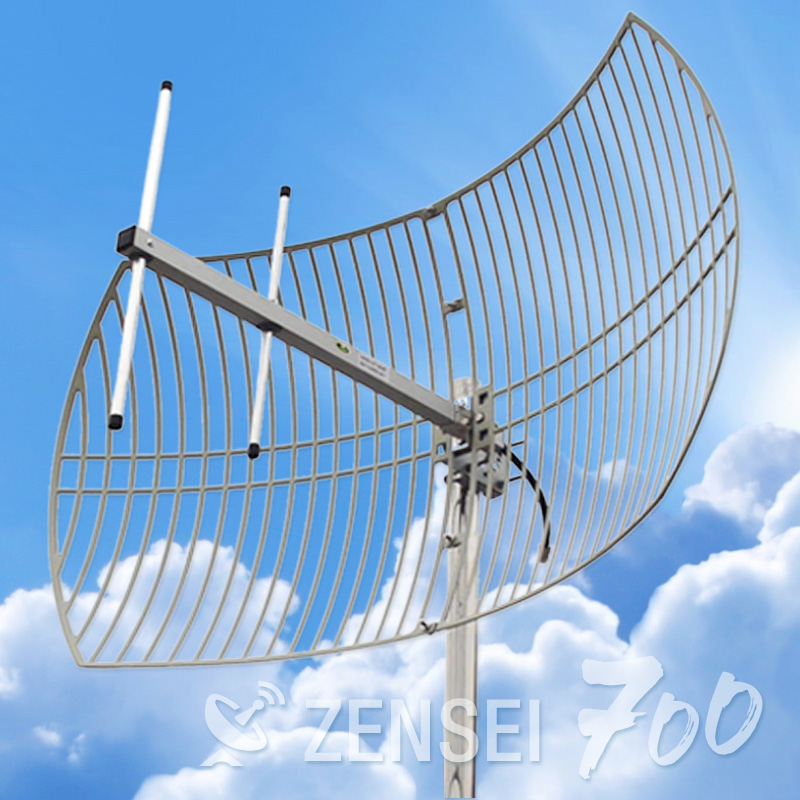 Zensei Ultra Parabolic Grid Antenna for 700Mhz 4G LTE