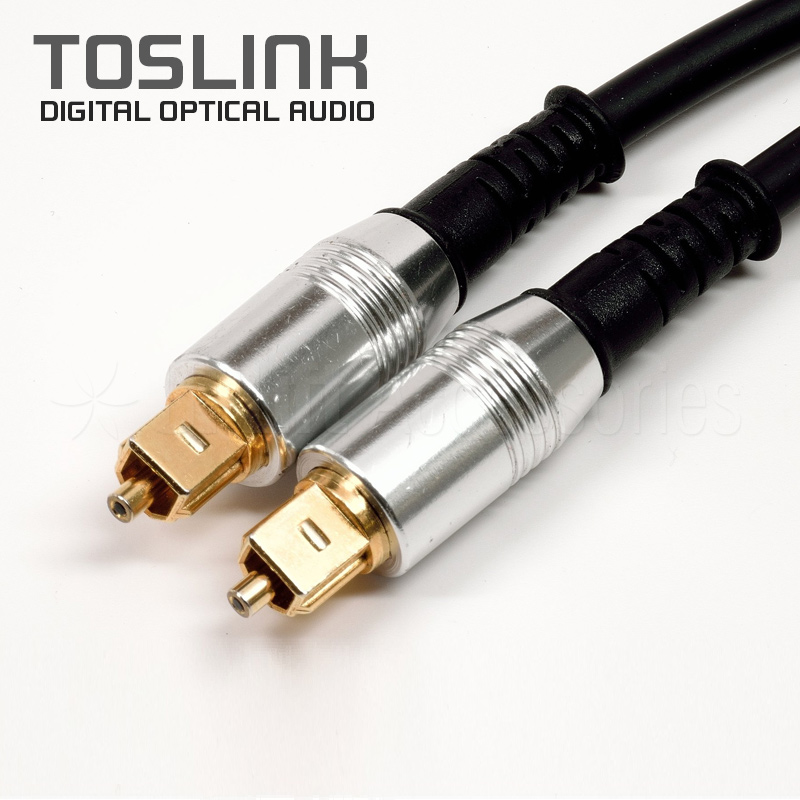 Toslink Nylon-Mesh Fiber Optic Audio Cable Dark Gray (1.5m)