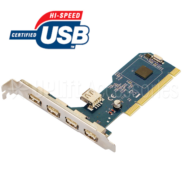 USB 2.0 Expansion Card 4+1 Ports (PCI)