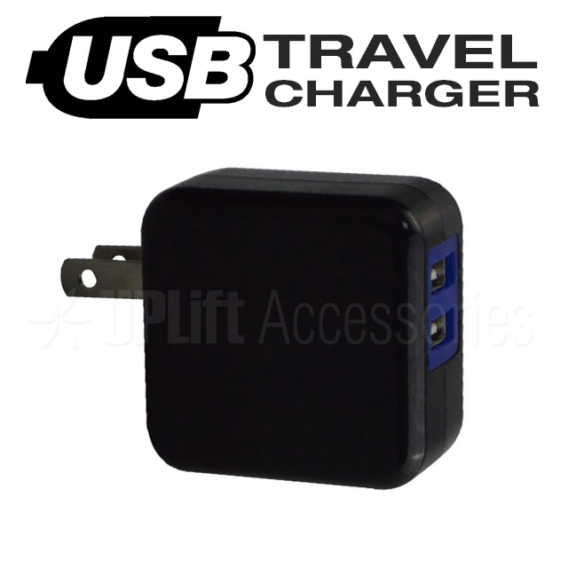 USB Travel Charger 2-Port (Black)