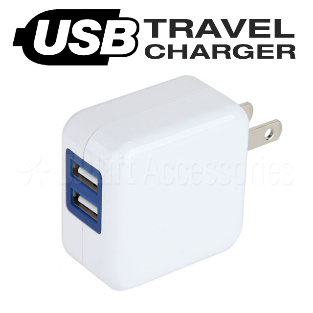 USB Travel Charger 2-Port (White)