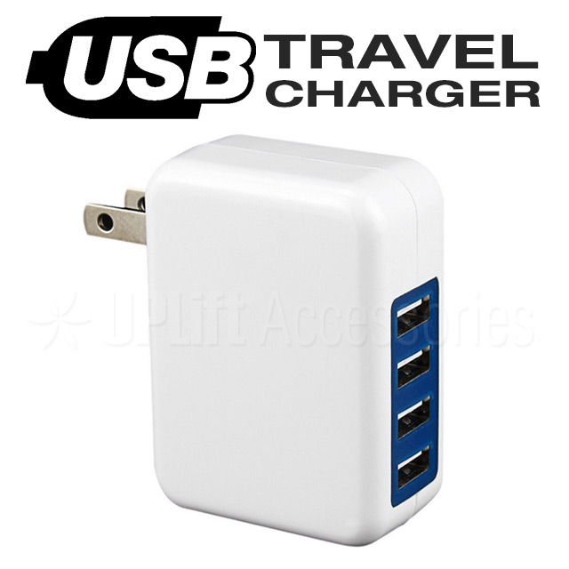 USB Travel Charger 4-Port (White)