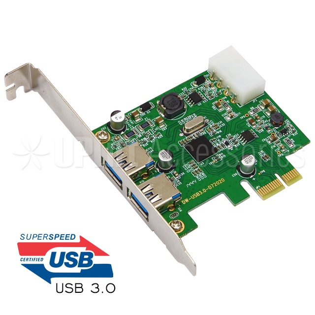 USB 3.0 Expansion Card 2-Port (PCI-E)