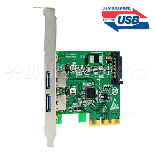 USB 3.1 Type-A 10Gbps Expansion Card 2-Port (PCI-E x4)